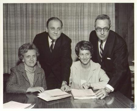 Image: di37268 - (seated) Mrs. Frank Cetrolo, Mrs. Leonard Fangman (standing) Owen Hauch, Robert Cetrulo. In charge of....