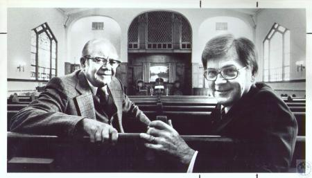 Image: di37291 - Rev. Ennis Taylor, Ret. And Rev. ernest Carpenter at Madison Ave. Baptist Church