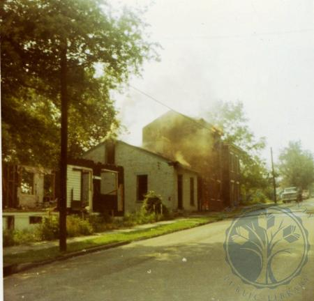 Image: di39273 - Razing of houses on Eastern side of 500 block of Western