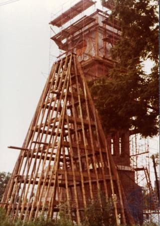 Image: di39336 - Construction of Carroll Chimes Bell Tower, Goebel Park