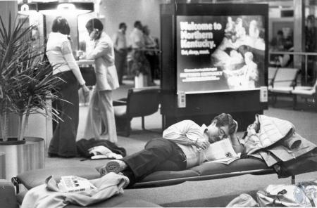 Image: di40245 - Mark Glazer waiting for flight to New Orleans