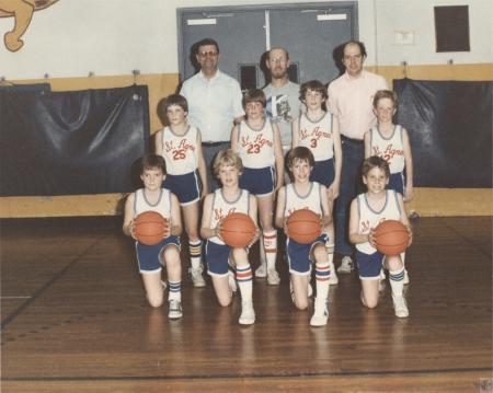 Image: di40645 - Saint Agnes 4th Grade team - (front) Danny Romes, Kevin Joyce, Chris Eilerman, Mike Bloemer, (2nd row)....