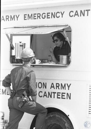 Image: di41554 - police investigator at Salvation Army Emergency Canteen