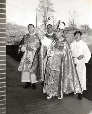 Image: di43680 - Bishop Richard H. Ackerman and unidentified others