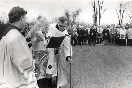 Image: di43684 - Bishop Richard H. Ackerman and unidentified others