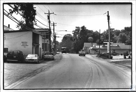 Image: di50816 - Looking south on U.S. 42 at intersection with Frogtown Road (left) & Hathaway Road (right)