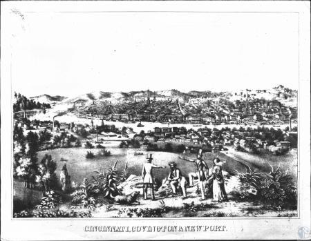Image: di50863 - Newport, Covington, Cincinnati: as seen from Wiedemann's Hill (present site of Newport Catholic High....