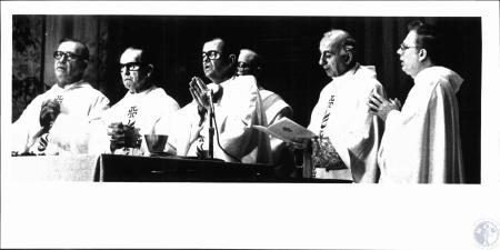 Image: di51394 - Rev. Robert E. Osborne (Pres. Sentate of Priests), Most. Rev. Thomas J. McDohough (Apostolic Administrator),....