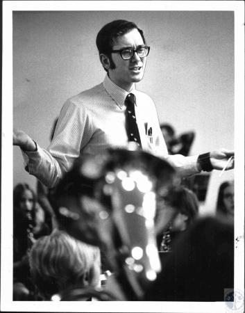 Image: di51610 - Bob Adams (23), music director at Newport Schools