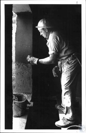 Image: di52636 - Oscar Messer of Corbin, working on concrete at Highland Gericenter