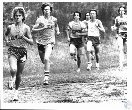 Image: di53260 - Newport Catholic's Mark Camm (far left) and teammate Jim Vebel (2nd from left)