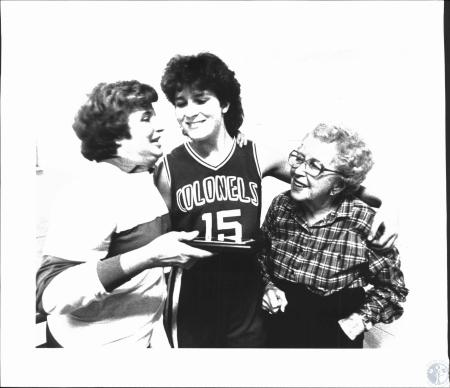 Image: di53951 - Dixie Heights High School girls basketball player with Mom ? And Grandmother?