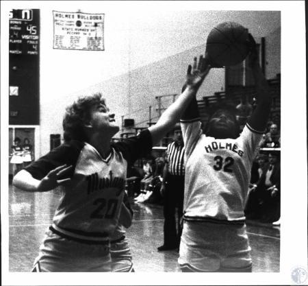 Image: di54340 - Girls High School Basketball game, Bishop Brossart vs Holmes