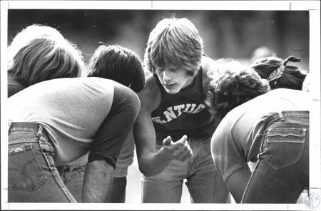Image: di55579 - Middle, facing camera - Joe Schworer (15). Pickup football game in Devou Park.
