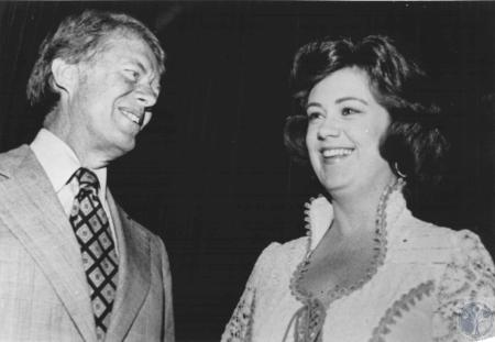 Image: di56314 - President Jimmy Carter and Mrs. Carroll Hubbard at reception