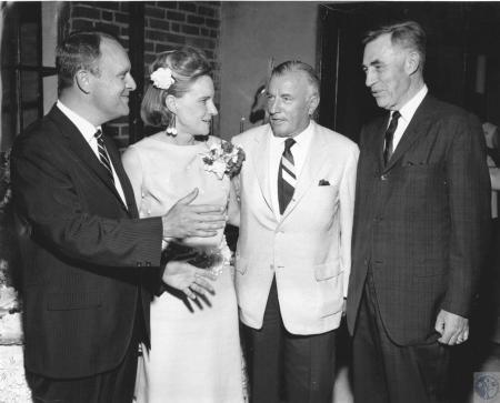 Image: di57094 - L-R: Mr. and Mrs. Edward T. (Ned) Breathitt, John Y. Brown, and John J. Moloney