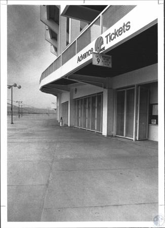 Image: di57714 - Deserted Bengals ticket office on plaza level at Riverfront Stadium
