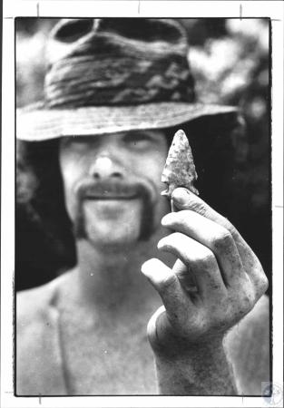 Image: di58587 - Matt Walters (22), Shelbyville. This is Walter's first dig and this is his first real