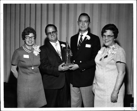 Image: di59949 - Miss Ruth Wolking, Robert Martin, Dr. Roger Haas, Miss Helen Troy