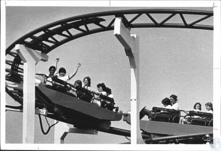 Image: di63946 - Whooping it up on the roller coaster (World's Fair)