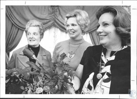 Image: di65320 - Mrs. Frank Canfield, Mrs. Thomas Moser, Mrs. Leon Bronesky
