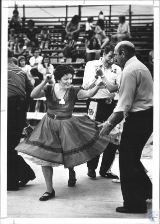 Image: di65783 - Gail Barnes with the Kentucky Kuzzins Square Dance group from Ludlow. They danced at the Kenton County....