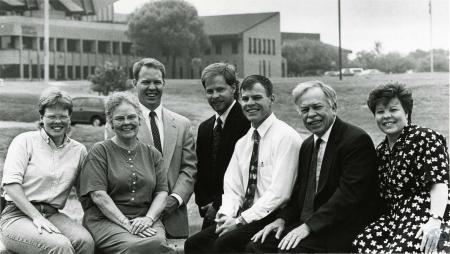 Image: di69745 - Deters family (Eric Deters 3rd from left) at Thomas Moore College.
