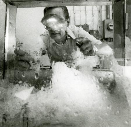 Image: di71282 - Ernie Pretop, Southgate, owner of Ann's Ice Balls, 9th Street, Newport - since 1919.