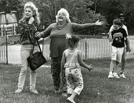 Image: di72099 - Marilyn Frommeyer (63) surprised when taken tree at NKY she used to play in as a child by her granddaugher....