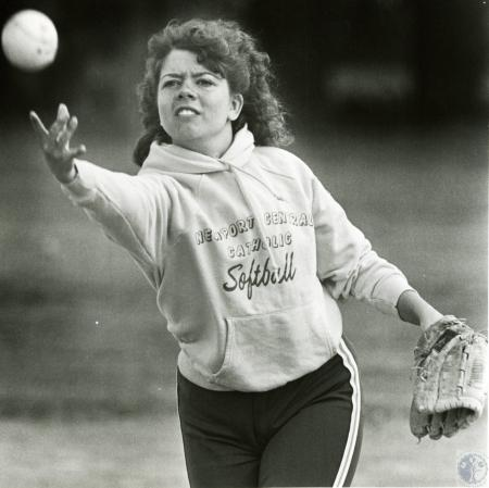 Image: di73367 - Unidentified Newport Central Catholic High School softball player.