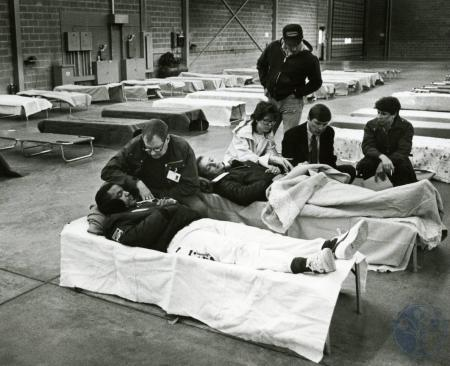 Image: di74935 - The temporary morgue saw only two
