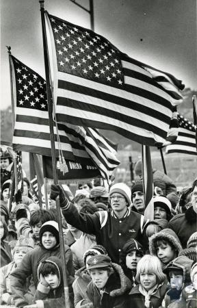 Image: di76294 - Unidentified gathering of boy scouts