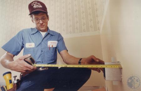Image: di81383 - Bob Conrad, Hebron, employee of Mom's Heating and air.