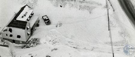 Image: di83189 - Aerial view of snow covered property on Highland Avenue.