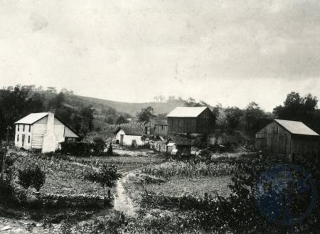 Image: di83900 - The Henry Strebel Farm, circa 1909, on Route 8 between Corntown and Foster