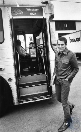 Image: di84075 - Jimmy Williams getting on a TANK bus hehind his place of employment, BAWAC West, 7964 Kentucky Drive,....
