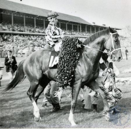 Image: di84726 - Kentucky Derby winner Secretariat enters winner's circle.
