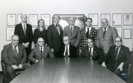 Image: di84911 - Board of Regents, Morehead State University. Seated from left: Sam Kibbey, B.F. reed, Dr. W.H. Cartmell,....