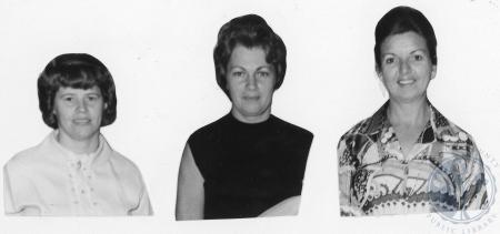 Image: di86847 - Mrs. Ceil Barltett, left Mrs. Billee Wimmers, Mrs. Bob Deirig, Mrs. John Merkle