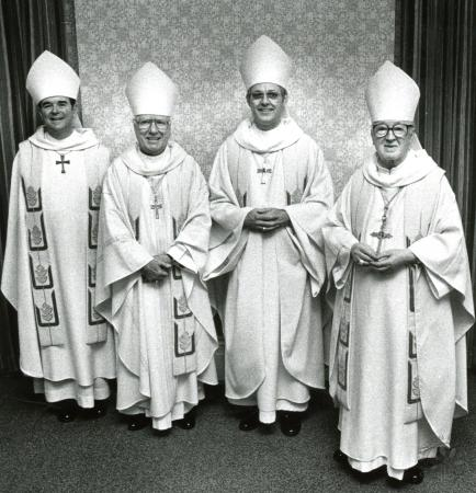 Image: di89963 - Archbishop Thomas Kelly, Louisville; Bishop William Hughes, Covington; Bishop J. Kendrick Williams, Covington;....