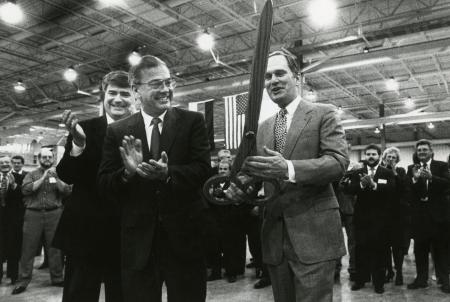 Image: di90482 - Ribbon cutting for the dedication of the Sachs Automotive of America Plant in Florence. Robert Chrysler,....