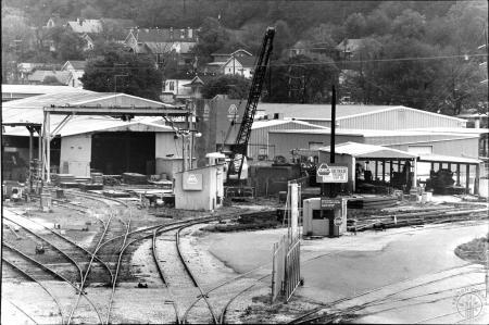 Image: di90604 - Ortner Freight Car Company as seen from foot bridge.