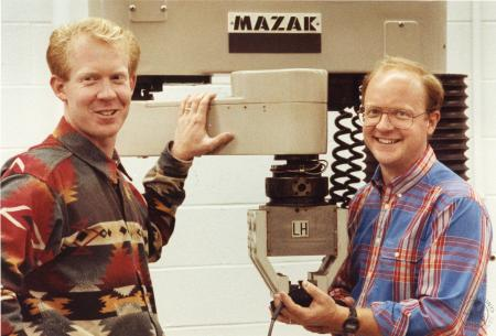 Image: di90946 - Michael Slivka and Dave Hunt. They won scholarships from Mazak and will be going to Japan to study at....