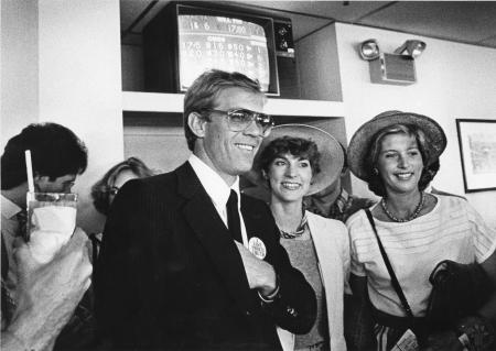 Image: di91367 - Former President Gerald Ford's son, Steve Ford, with unidentified ladies at the Kentucky Derby 1985.