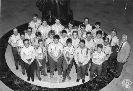 Image: di91790 - Eagle Scouts at the State Capitol in Frankfort. Eagle Scout is the highest rank attainable in the Boy....