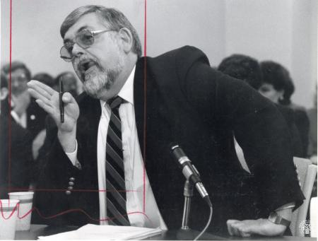 Image: di93131 - Attorney Charles Wickliffe makes a point to the Capital Projects and Bond Oversight Committee.  He was....