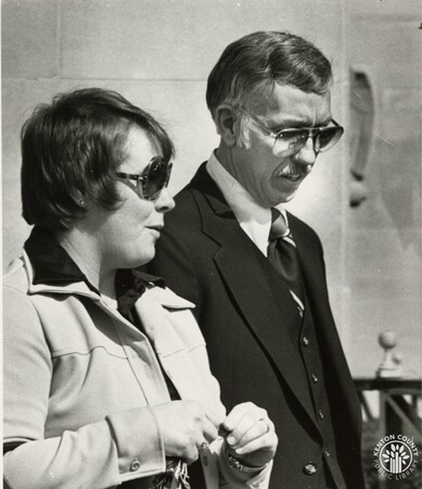 Image: di95294 - Unidentified woman and Lee Hull of Master Detective Agency. Lee said in Federal Court that he paid Claude....