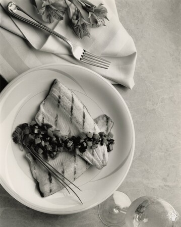 Image: di95687 - Grilled rainbow trout with caponata relish