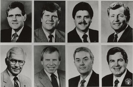 Image: di95814 - These are the leaders of the Kentucky General Assembly with legislative stories throughout 1992. Top....