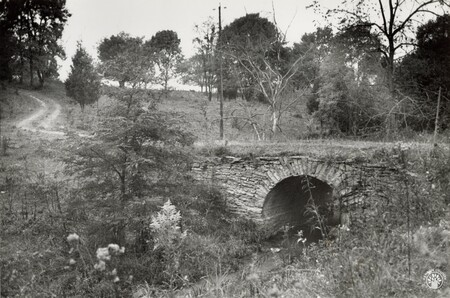 Image: di96108 - Old stone bridge and lane along KY 20, just east of Hebron.